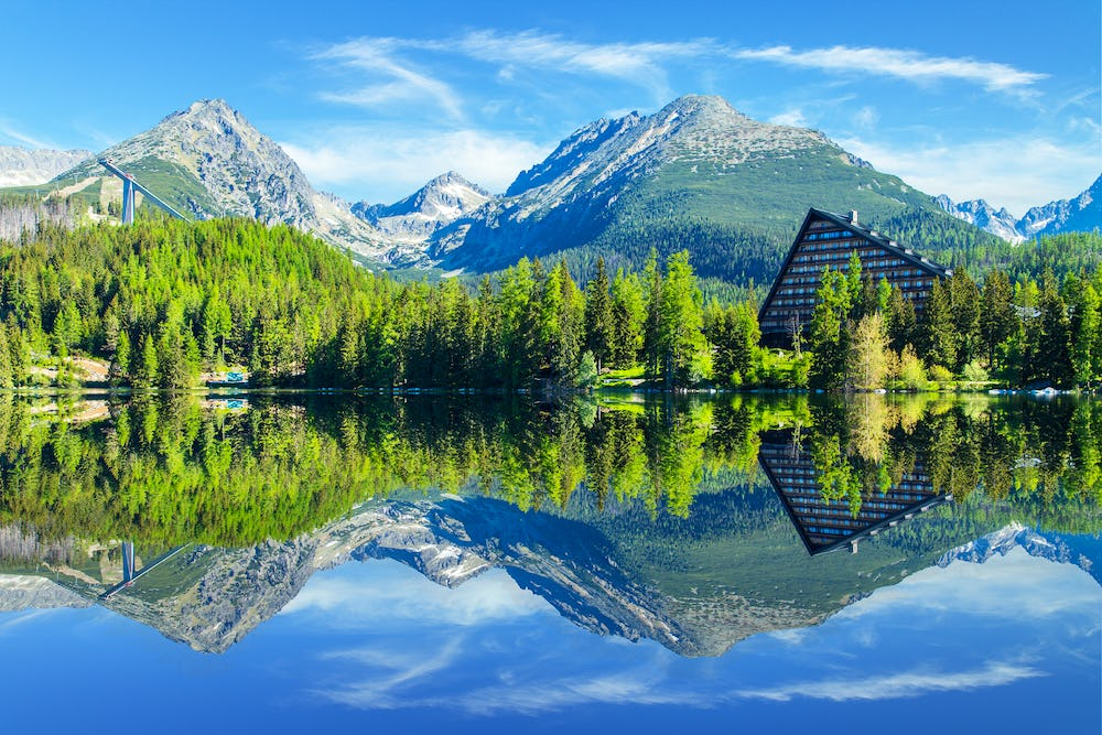 Strbske Pleso Mountain Lake