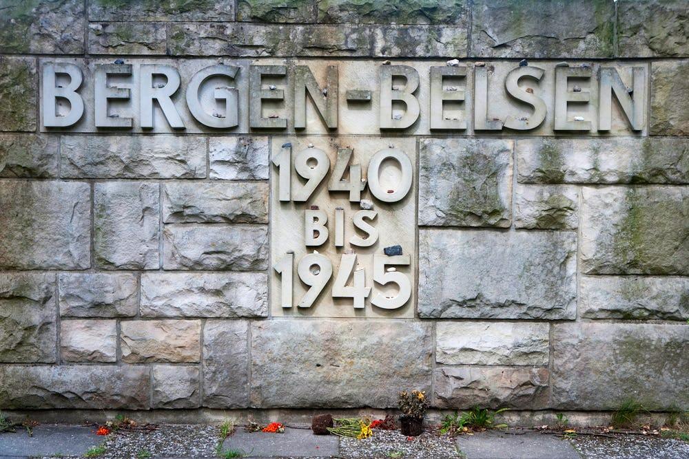 WWII Bergen-Belsen memorial